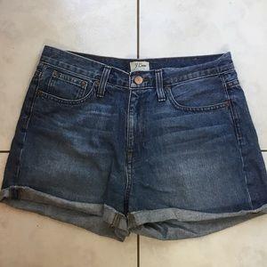 J Crew medium wash denim shorts